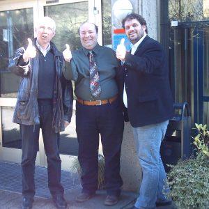 Hans Krings, David Boventer und Guido van den Berg gehen positiv n den Wahlkampf