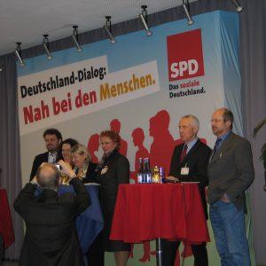 Guido van den Berg, Andrea Nahles, Helga Kühn-Mengel, Gabriele Frechen, Hans Krings und Norbert Pohlmann