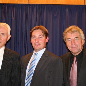 Gemeinsam für die Region: Landratskandidat Hans Krings, Europakandidat Sebastian Hartmann und der Kölner OB-Kandidat Jürgen Roters