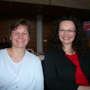 Andrea Nahles, MdB mit Franziska Grafe, Stadträtin aus Brühl