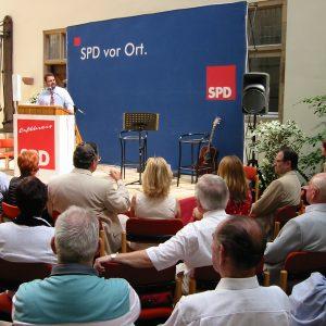 Guido van den Berg bei der 140 Jahr Feier auf Schloß Bedburg