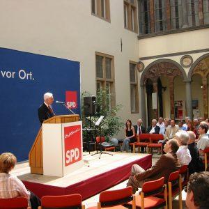 Hans Krings bei der 140 Jahr Feier der SPD