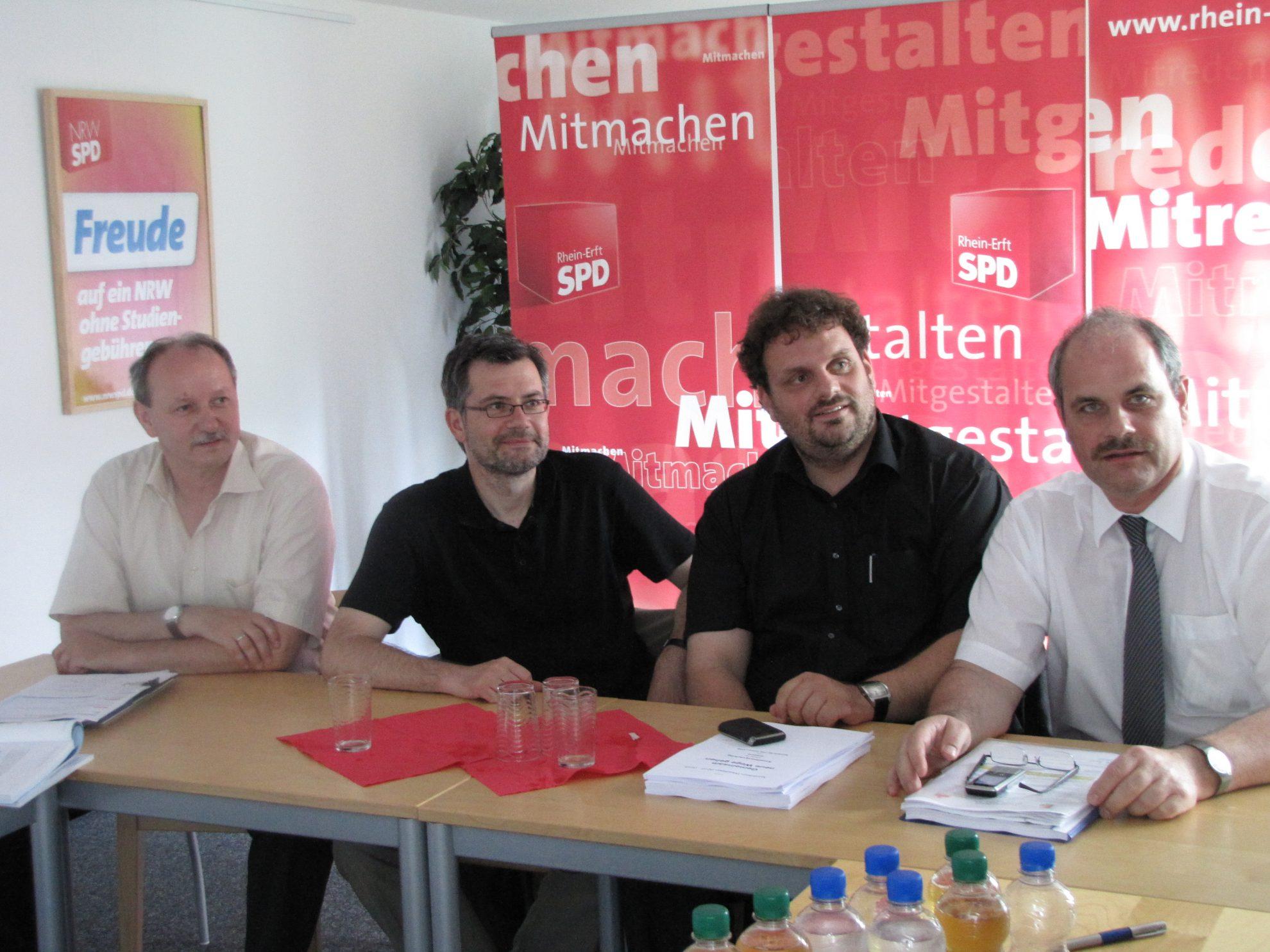 Hans-Peter Lafos, Dietmar Nietan, Guido van den Berg, Dieter Faust (13.7.2010)