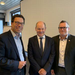 Timm, Solbach mit Finanzminister Scholz