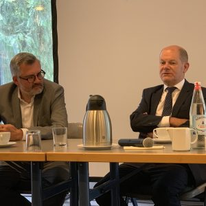 Dietmar Nietan MdB und Finanzminister Olaf Scholz