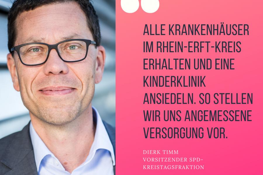 Dierk Timm: Krankenhäuser erhalten und Kinderklinik ansiedeln