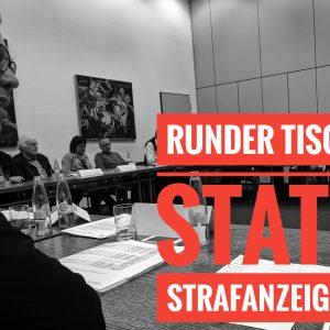 Dierk Timm spricht zu den zahlreichen Teilnehmern des Rundes Tisches