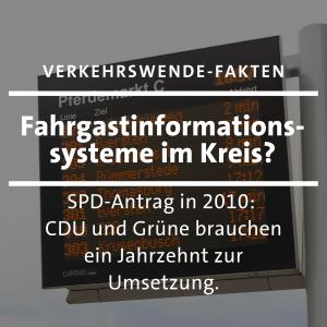 Verkehrswende: Ein Jahrzehnt nach dem SPD Antrag schaffen CDU und Grüne vielleicht die Umsetzung von Fahrgastinformationssystemen