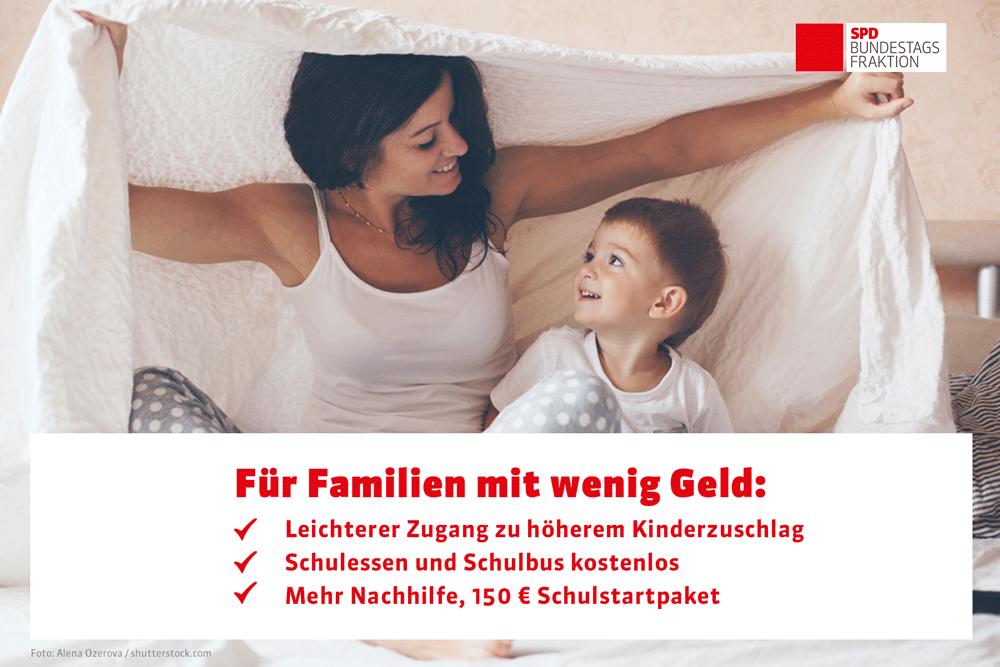 Sharepic SPD Bundestagafraktion zum Starke Familien Gesetz