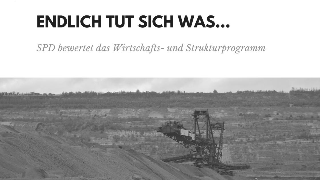 Überschrift: Endlich tut sich was, SPD bewertet das WSP