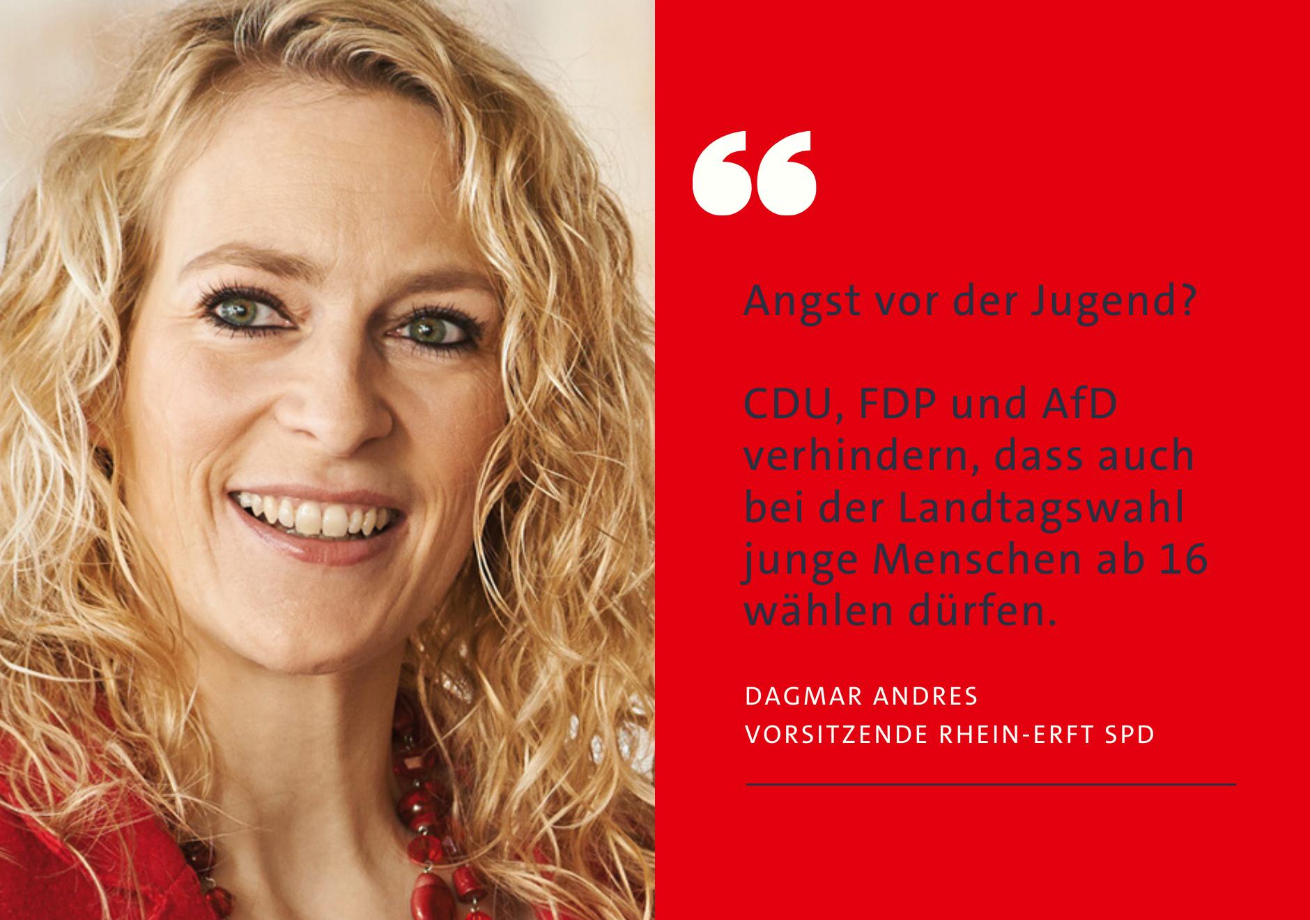 Dagmar Andres: Angst vor der Jugend? CDU, FDP und AfD verhindern, dass auch bei der Landtagswahl ab 16 gewählt werden kann.
