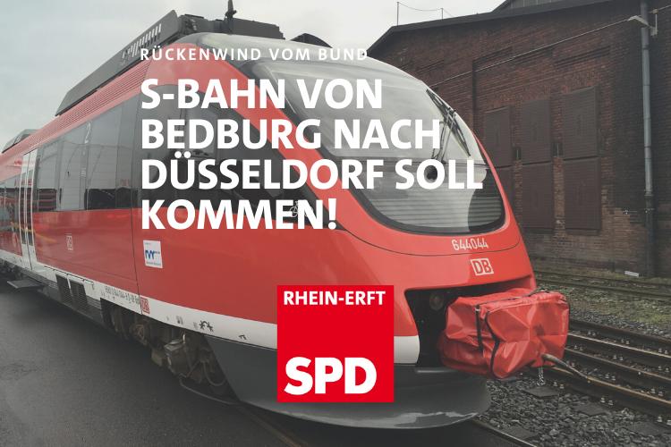 Rückenwind für den Original S-Bahn Plan der SPD: Die Verbindung Bedburg Düsseldorf soll kommen
