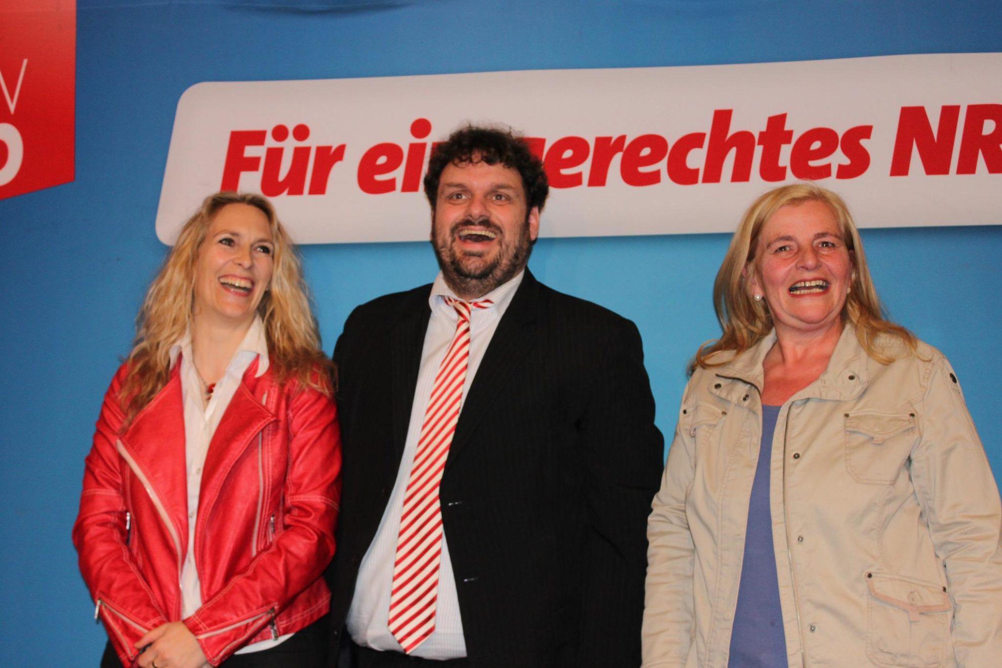 2012-03-24 Kreisparteitag Dagmar Andres, Guido van den Berg und Brigitte Dmoch-Schweren