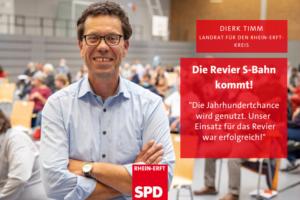 Dierk Timm lächelnd mit verschränkten Armen: Die Revier S-Bahn kommt. Unser Druck hat gewirkt.