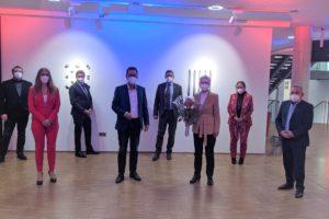 Der Fraktionsvorstand mit Heike Steinhäuser im Medio
