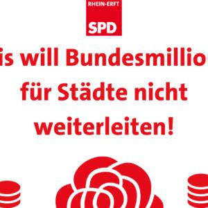 Text: Kreis will Bundesmillionen für Städte nicht weiterleiten