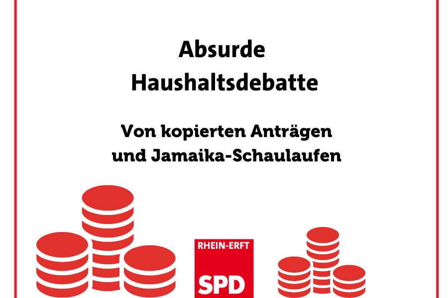 titelbild: Absurde Haushaltsdebatte